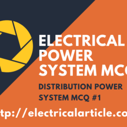DISTRIBUTION POWER SYSTEM MCQ