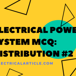 Electrical Power System MCQ: Distribution