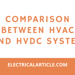 Comparison between HVAC and HVDC system