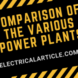 Comparison of the various Power Plants