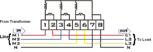 Connection Diagram of Three Phase Energy Meter