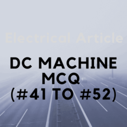 DC MACHINE MCQ