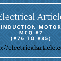 Induction Motor MCQ #7