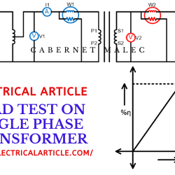 Load Test on single phase transformer