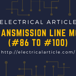 Transmission line MCQ (#86 to #100)