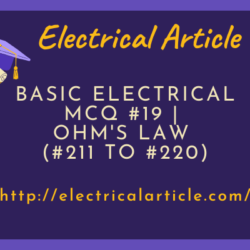 Basic Electrical MCQ #19