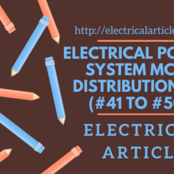 Power System Distribution MCQ