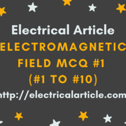 Electromagnetic Field MCQ #1