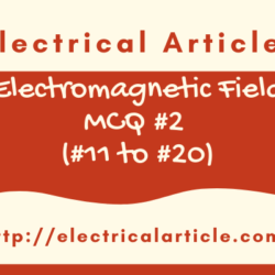 Electromagnetic Field MCQ #2